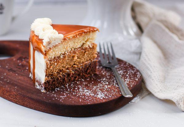 Tiramisu Bakery - Caramel Cake slice