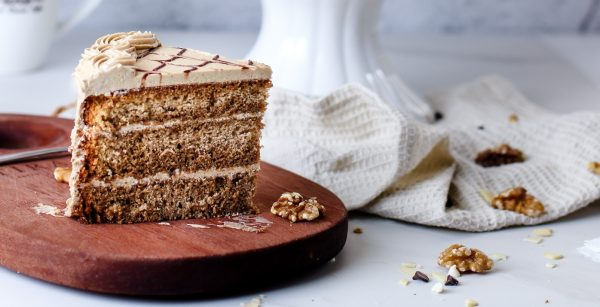 Tiramisu Bakery - Coffee Walnut Cake slice