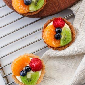 Tiramisu Bakery - Mixed fruit tarts 4 pieces