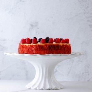 Tiramisu Bakery - Raspberry Red Velvet Cheesecake