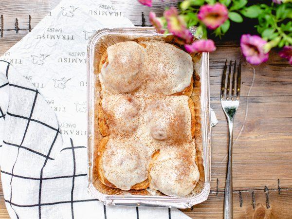 Tiramisu Bakery - Brown Butter Cream Cheese Cinammon Rolls scaled