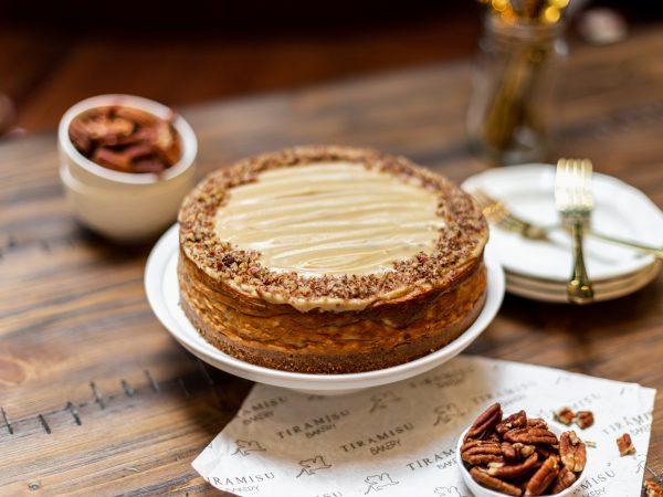 Tiramisu Bakery - Pecan and Butterscotch Cheesecake scaled