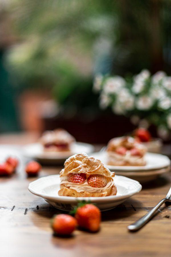 Tiramisu Bakery - Strawberry Cream Profiteroles scaled